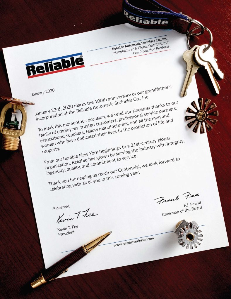 Letter to the Fire Protection Industry